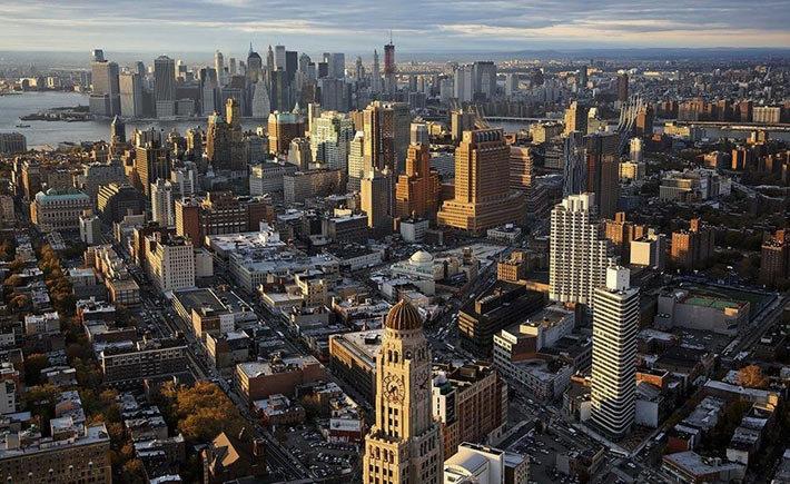 Вид сверху на Нью-Йорк