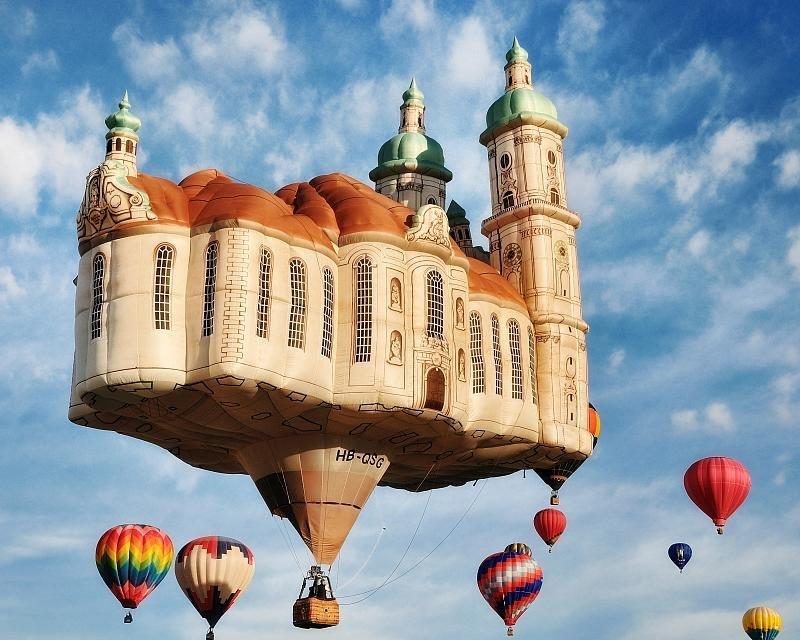 Воздушные шары: креативная реклама в небе