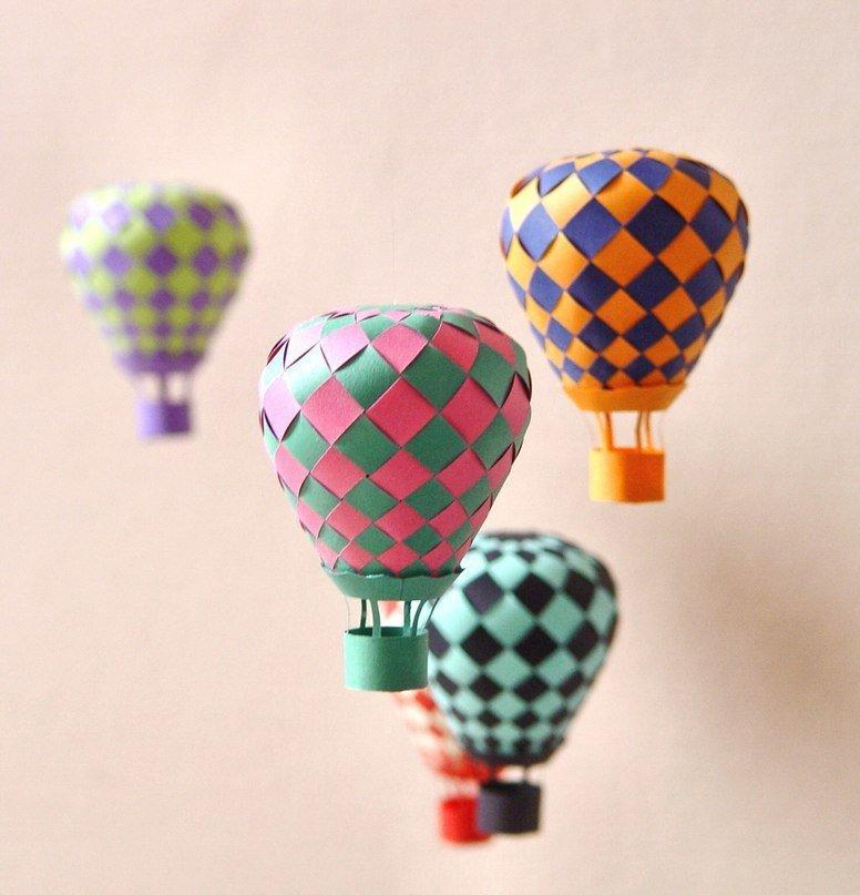 Воздушный шар из бумаги. Обсуждение на LiveInternet - Российский Сервис Онлайн-Дневников