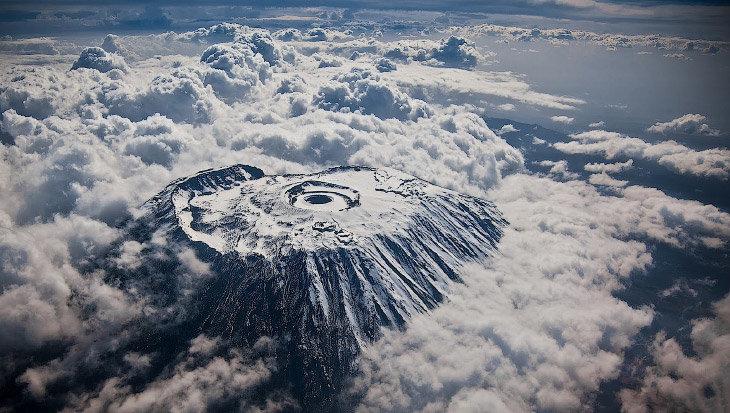 Земля из окна самолета