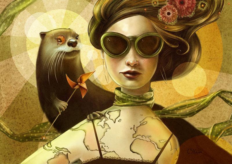 Животные-люди на иллюстрациях Кристины Хесс