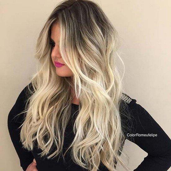 Русые волосы на блонд
