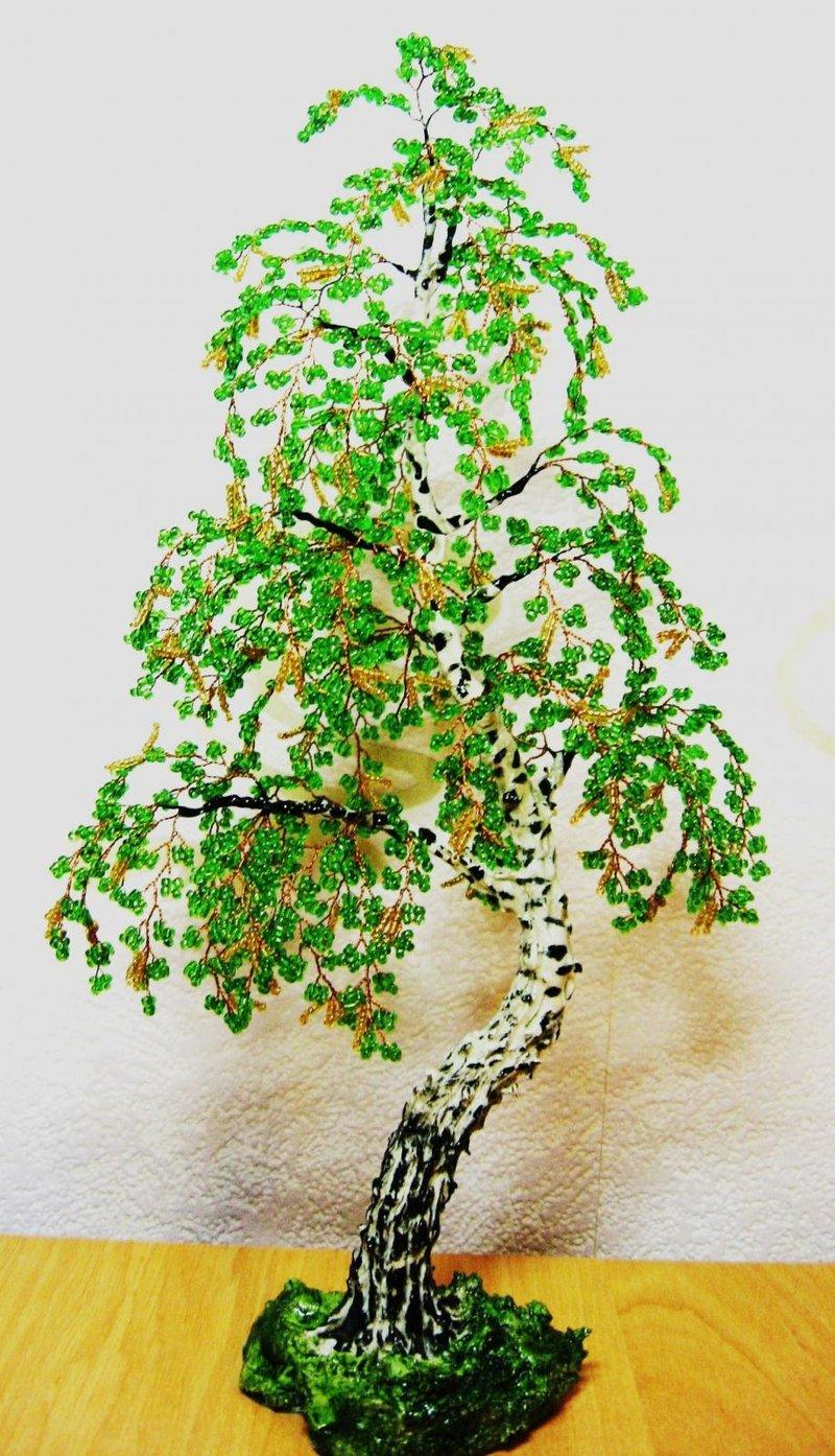 Плетение из бисера деревья пошаговая инструкция