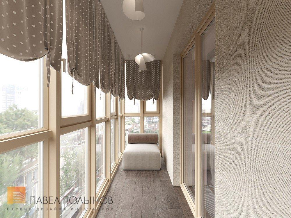 """Дизайн лоджии в проекте """"интерьер квартиры в стиле минимализ."""
