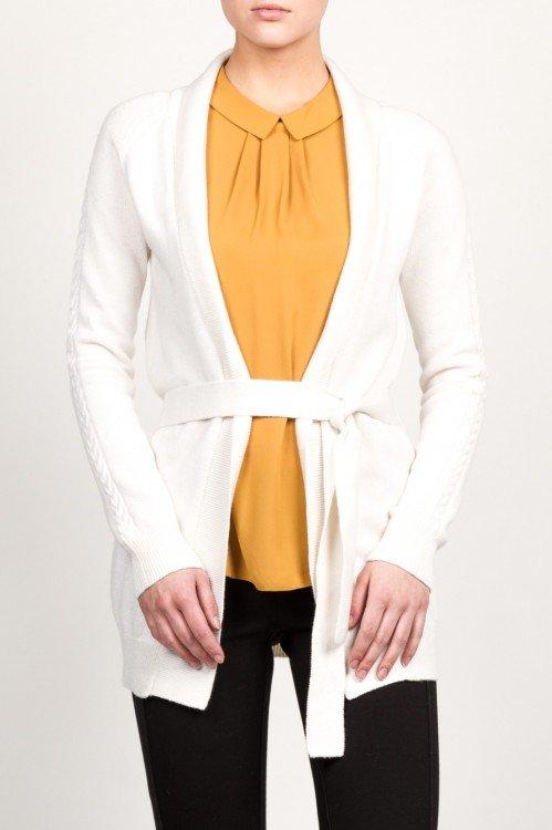 Белый кардиган под пояс Интернет магазин Интернет магазин одежды LoveModa.by