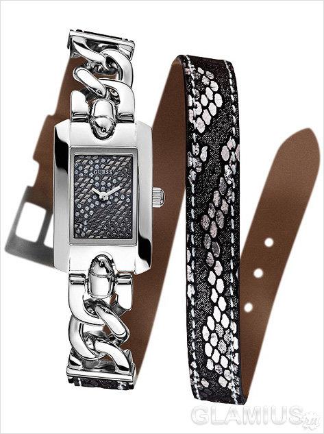 Часы с комбинированным ремешком