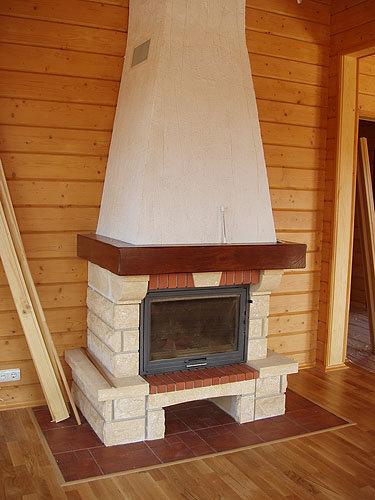 Деревянная каминная доска