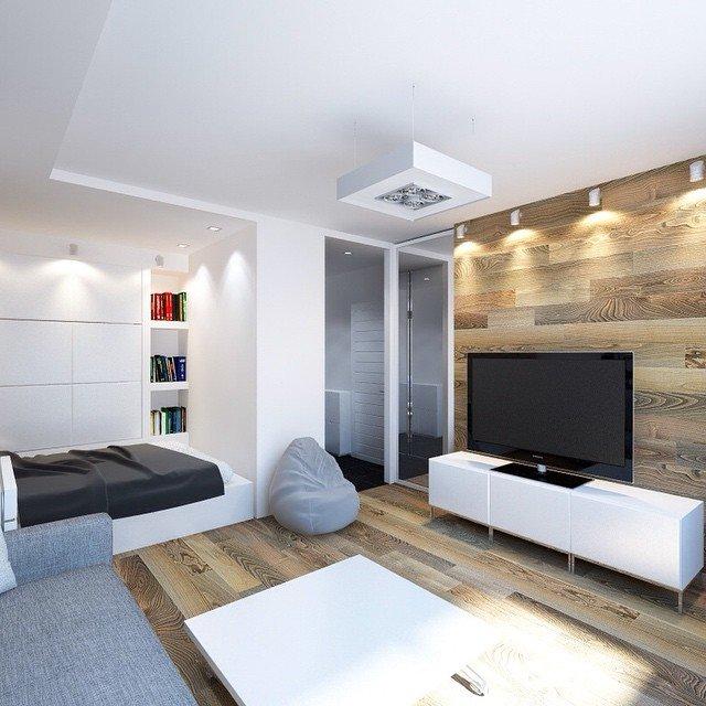Дизайн однокомнатной квартиры: 20 фото идей
