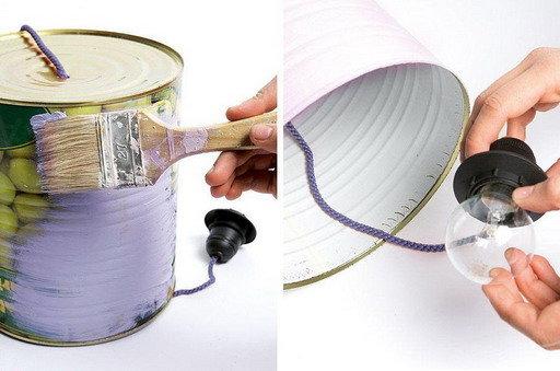 Для окрашивания жестянки нужно подобрать цвет, который удачно впишется в цветовую гамму кухни