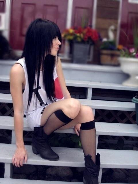 фото брюнеток с длинными волосами   Фотоархив