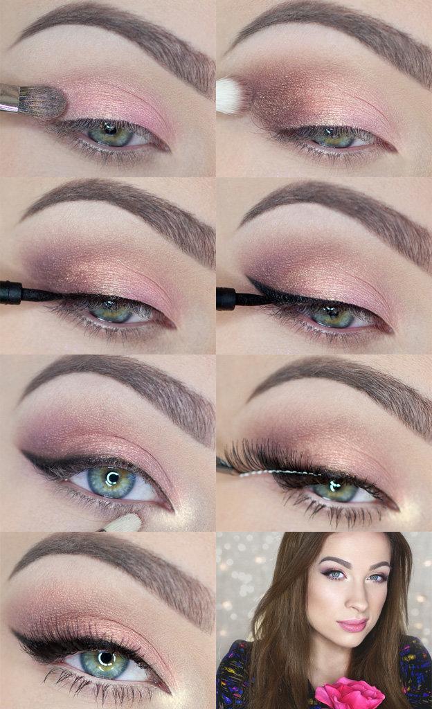 Фото уроки макияжа: пошаговые инструкции для разных оттенков глаз