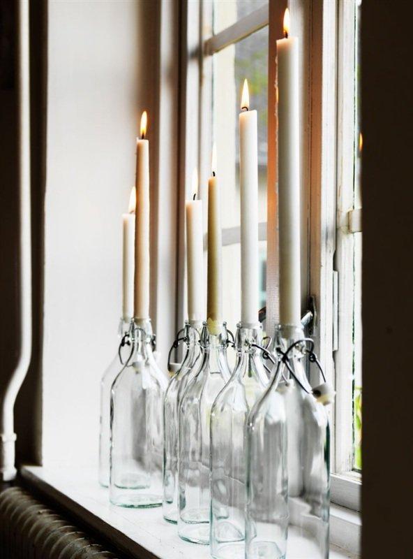 Идеи для новогоднего декора окон и подоконников (фото) - Домашний очаг