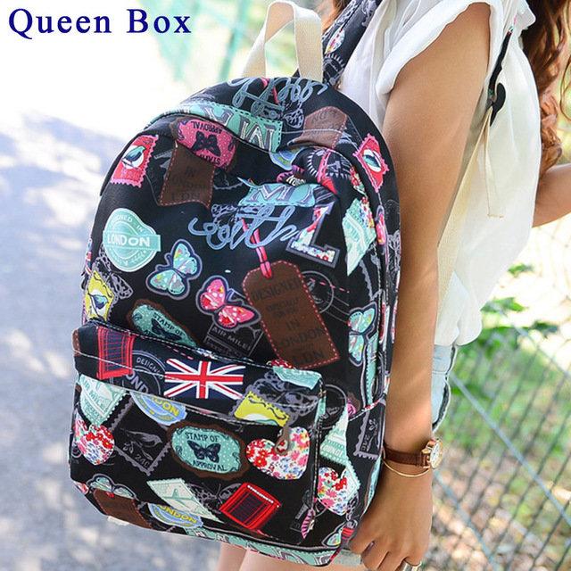 Известные бренды женщины холст рюкзак женщин сумки дамы дорожная сумка школьные сумки студенты рюкзаки холст рюкзак