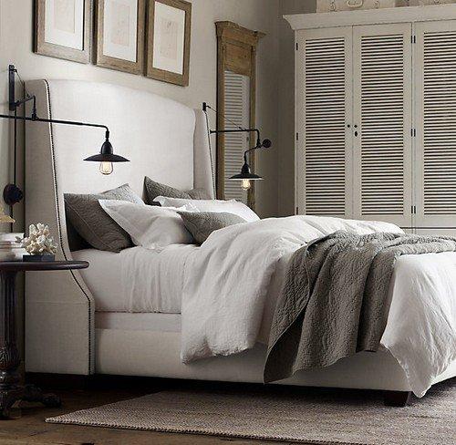 Льняное постельное белье и покрывало