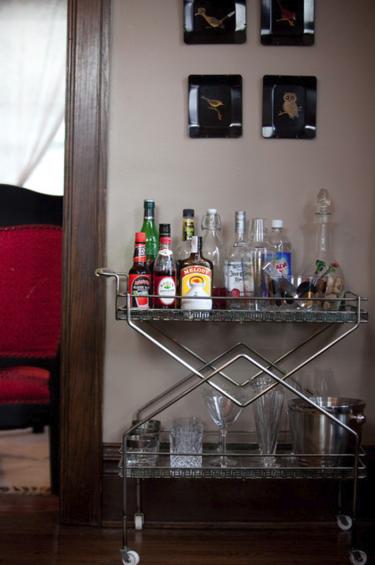 домашний бар со спиртным
