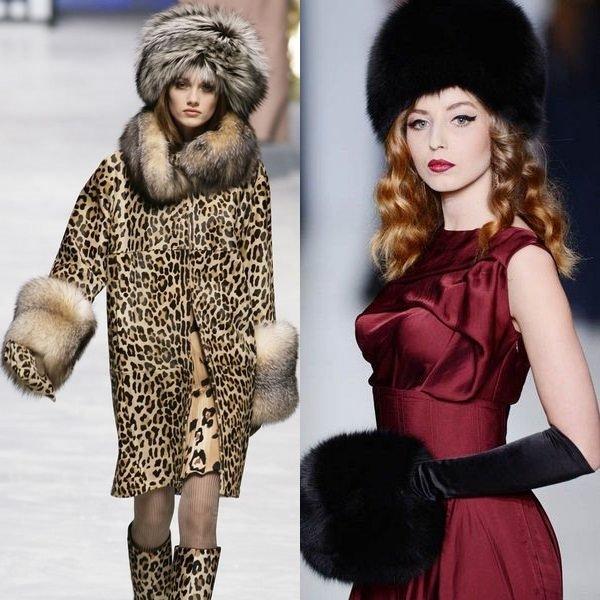На фото меховые женские шапки зимы 2015-2016 года