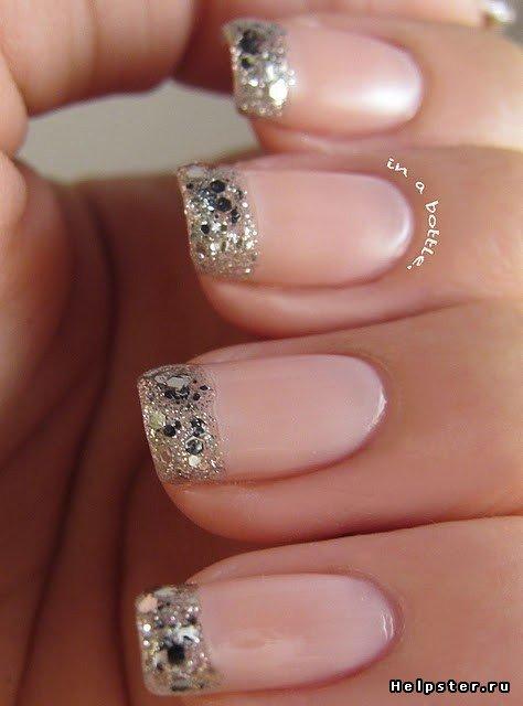 Новогодний дизайн коротких ногтей / новогодний дизайн нарощенных ногтей фото