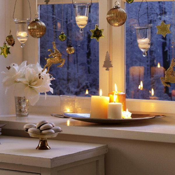 Окна на новый год: идеи декора с фото | Ladyemansipe