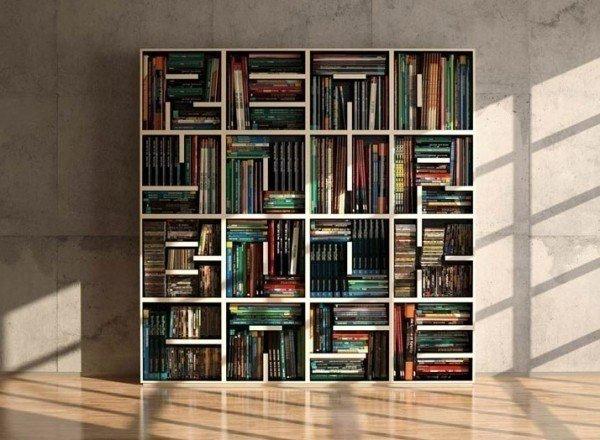 Полки для книг своими руками, идеи, фото