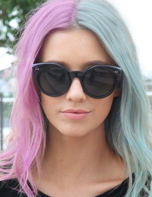 Разноцветные волосы у девушек – пряди, кончики | VolosoMagia.ru