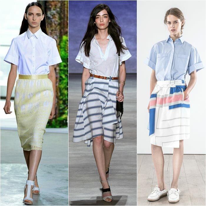 Рубашки с короткими широкими рукавами весна лето 2015