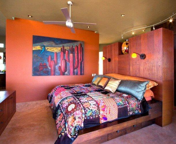 Спальня в бохо стиле на фото