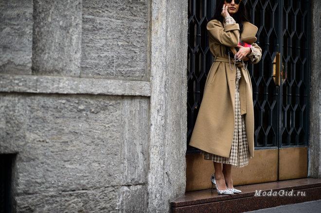 Уличная мода: 50 утепленных образов с платьями