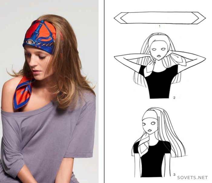 в виде повязки на голове
