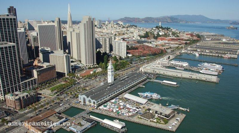 Причалы и набережная Embarcadero в Сан-Франциско
