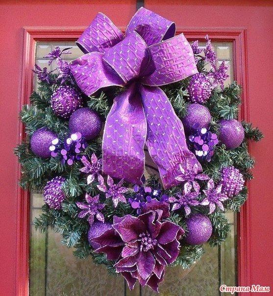 Картинки елок на новый год украшенные в фиолетовом цвете, днем рождения мужчине