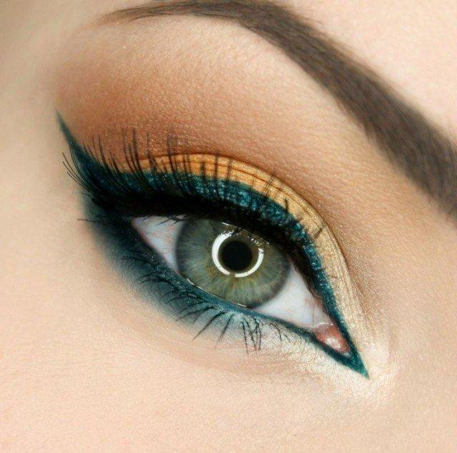 удивительный макияж зеленых глаз
