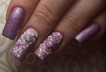 дизайн ногтей с цветами фото новинки 5