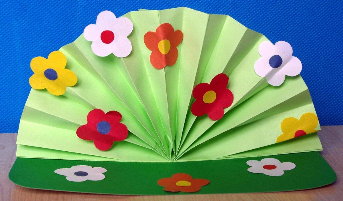 Днем рождения, поделка открытка для бабушки на день рождения из цветной бумаги