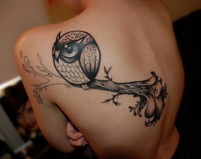 Татуировка «Толстая сова».