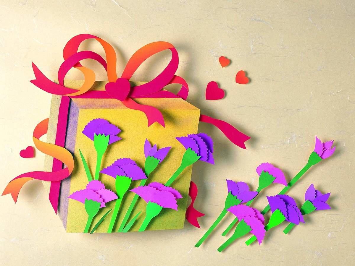 кто красивые открытки на 8 марта из картона полы