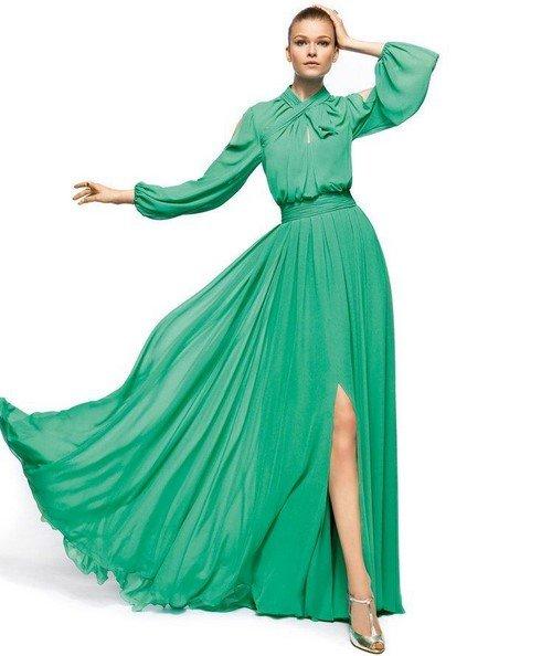 ad57c021486fcd9 ... Красивые зеленые платья в пол 2017-2018. Модные вечерние платья зеленого  цвета на выпускной