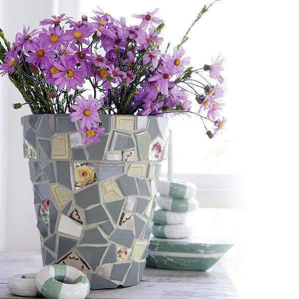 Декорирование цветочных горшков своими руками: яркие фото идеи