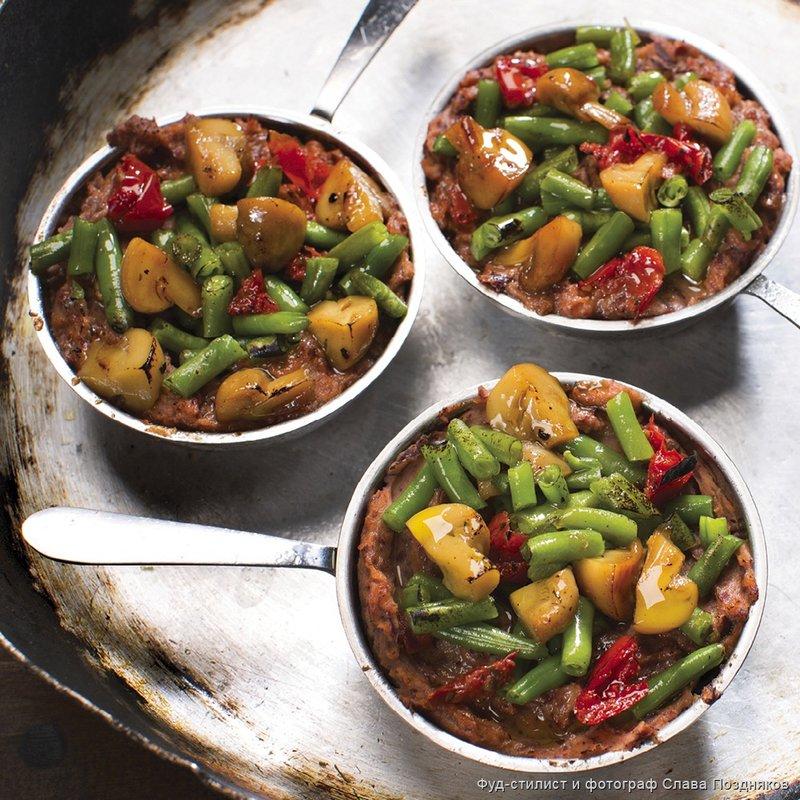 Грибная запеканка с томатами и стручковой фасолью - Пошаговые рецепты, фото, видео на сайте Bonduelle.ru
