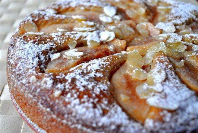 Грушевый пирог с миндалем и медом - Инна