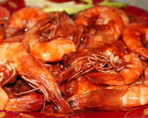 Креветки жареные с шафраном фото