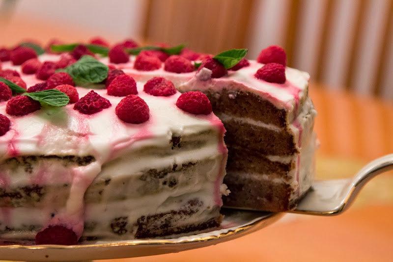 Кулинарное. Часть двадцать пятая. По мотивам постов блоггеров. Малиновый торт и Чизкейк   Блог Ботинок