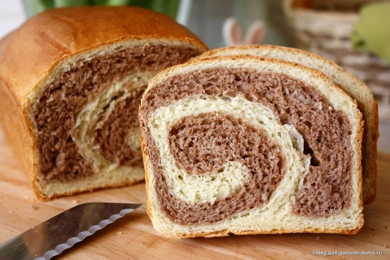 Мраморный хлеб/бриош • Хлебобулочные изделия