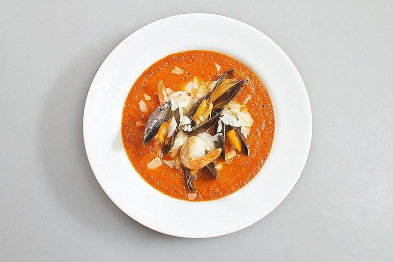 Томатный суп с морепродуктами рецепт с фото