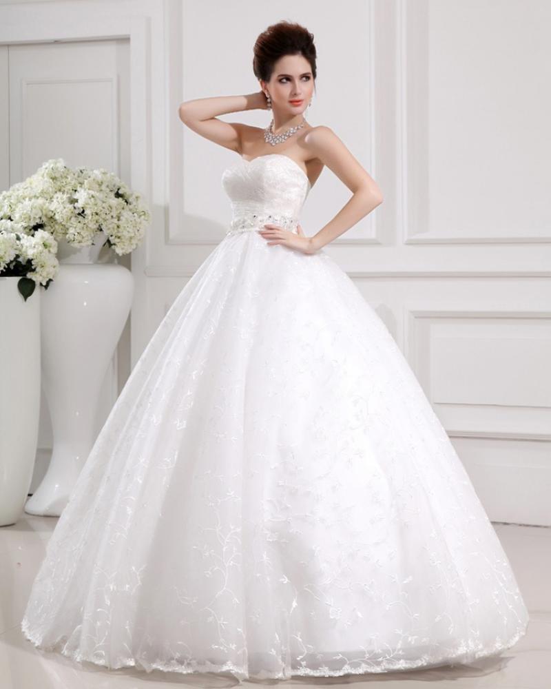 Белые свадебные платья пышные