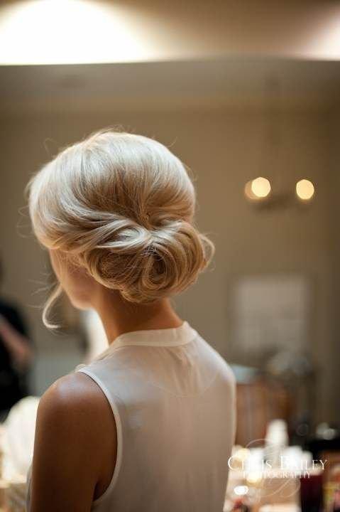 Cвадебные прически на средние волосы, фото (5)