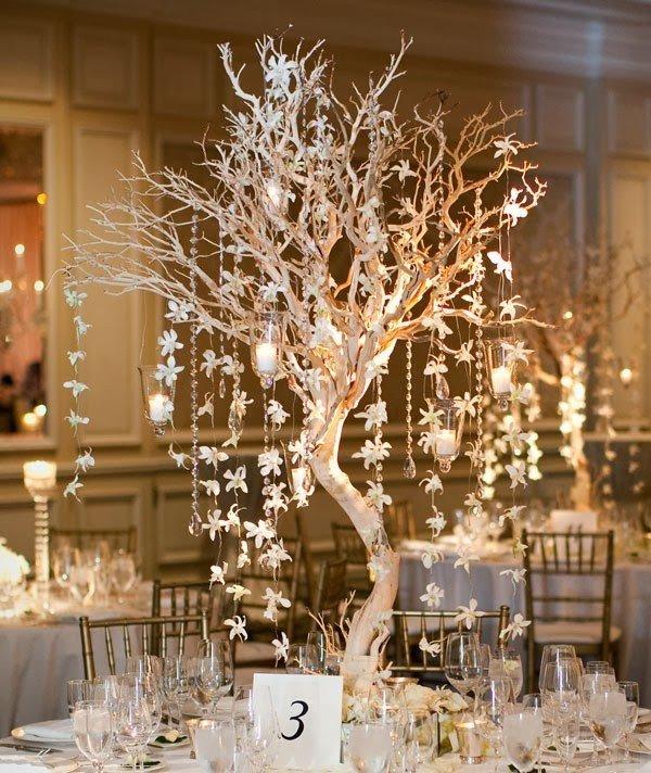 Деревья в свадебном декоре