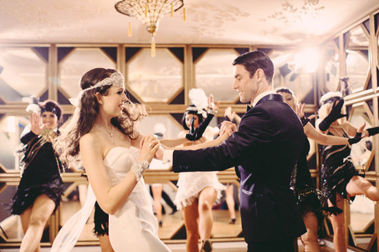 Gatsby Wedding Inspiration + The Wedding Collective Showcase Event - Polka Dot Bride