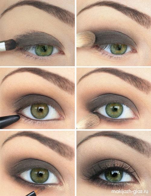 Изобр по > Дневной Макияж для Зеленых Глаз
