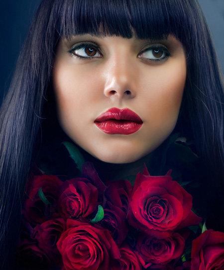 Красные губы – нестареющая классика