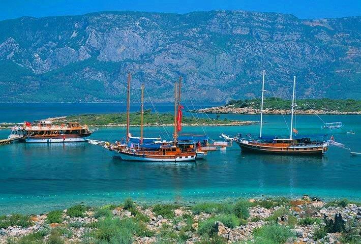 Остров Клеопатры в Турции